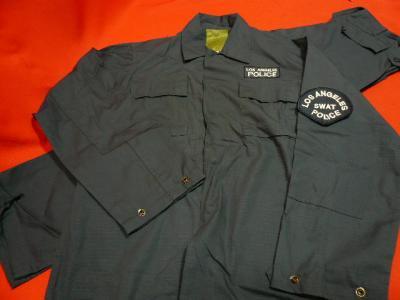 ☆雑貨 衣類 レプリカ  ポリス制服  上下セット LAPD  SWAT サイズ:Mのみ 画像