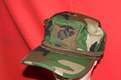 ★帽子 海兵隊マーク入り 迷彩 MCキャップ Lサイズ 帽子 レプリカ ウッドランド ウエストルーパー CAP WESTROOPER