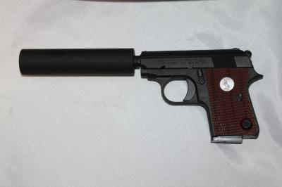 ★特価 マルシン COLT25AUTO コルト25オート サイレンサー付 黒HW ダミー モデルガン スパイ