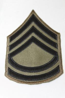 雑貨 ワッペン アメリカ陸軍一等軍曹(OD) SP-27