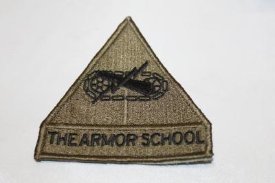 ★雑貨 ワッペンアメリカ軍 機甲部隊学校(OD)SP-46