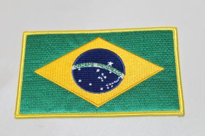 雑貨 ワッペン ブラジル国旗