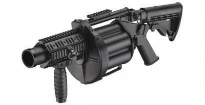 ★ICS-190 6連発型軍用リボルバーグレネードランチャー MGL140モデル黒