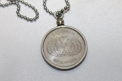 EXPO70 100円貨 記念コインペンダント 雑貨