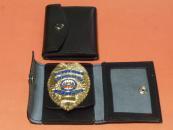 ★ENFORCEMENTSECURITYOFFICERバッジケース付Cセット ゴールド ポリス 警察