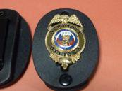 SECURITY  OFFICERバッジケース付SECURITYセット ゴールド
