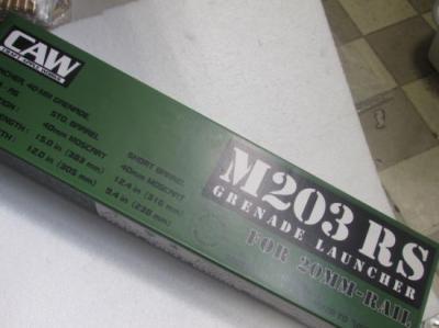 ★CAW M203 RS グレネードランチャー 20ミリレイル用 レイルシステム クラフトアップル