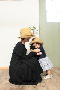 Edwina Horl ペーパーヤーンの帽子 ナチュラル キッズサイズ