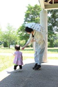 傳tutaee 折り畳み日傘 うさぎのたすき カクカク (紺×生成り) レディース