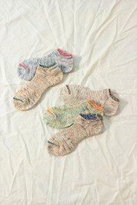 mauna kea 2段切り替えネップの靴下(5色展開) ユニセックス