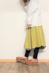 TENNE handcrafted modern 4枚スカート グレー/ネイビー/抹茶/イエロー
