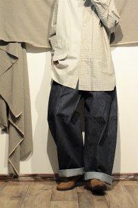 ASEEDONCLOUD HW デニムワイドトラウザー/Denim Wide Trousers インディゴ ユニセックス