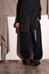 TENNE handcrafted modern ウールスソリブパンツ ネイビー ユニセックス