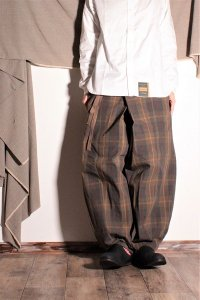ASEEDONCLOUD 巻きパンツ/Performance trousers チェック ユニセックス