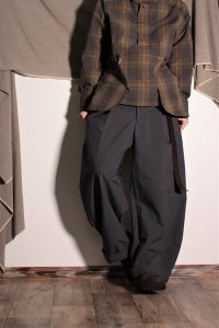 ASEEDONCLOUD HW ワイドトラウザー/Wide Trousers ダークグレー ユニセックス
