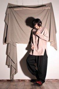 ASEEDONCLOUD ギボシ釦のメリノウールシャツ/pajama shirt ピンクベージュ ユニセックス