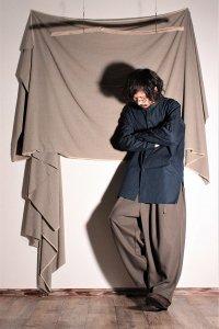 ASEEDONCLOUD ギボシ釦の極夜シャツ/pajama shirt インディゴ ユニセックス