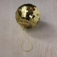 クリスマスオーナメント ゴールドスパンコールボール2個セット