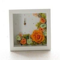 ビタミンカラーのプリザーブドフラワーの花時計