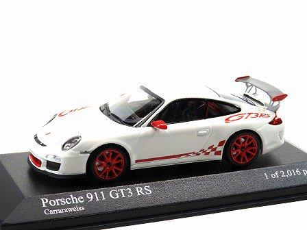 PORSCHE 911(997) GT3 RS 2010 White/Red Stripe 1/43PMA 400069100 - Gallery  Tanaka Shopping Site