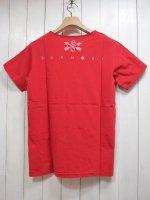 【Burnout】BACK PRINT POCKET T-SHIRT(RED)