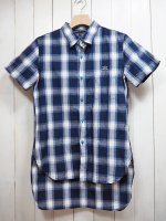 <img class='new_mark_img1' src='//img.shop-pro.jp/img/new/icons41.gif' style='border:none;display:inline;margin:0px;padding:0px;width:auto;' />【Burnout】COTTON LINEN S/S LONG SHIRT C
