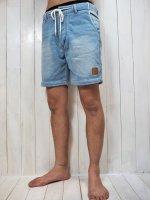 【Burnout】INDIGO SWEAT SHORT PANTS(SAX)
