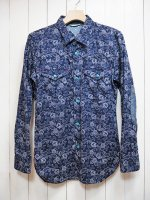 <img class='new_mark_img1' src='//img.shop-pro.jp/img/new/icons16.gif' style='border:none;display:inline;margin:0px;padding:0px;width:auto;' />【Burnout】PAISLEY PRINT SHIRT
