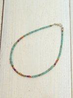 <img class='new_mark_img1' src='https://img.shop-pro.jp/img/new/icons41.gif' style='border:none;display:inline;margin:0px;padding:0px;width:auto;' />【Special】AFGHAN BEADS ANKLET(TURQUOISE)