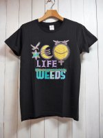 【ARIGATO FAKKYU】雑草 LIFE-WEEDS T-SHIRT(BLACK)