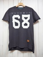 【Burnout】S/S FOOTBALL T-SHIRT(CHARCOAL)