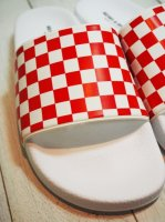 【HENRY & HENRY】180 RED/WHT CHECKER WHITE SOLE