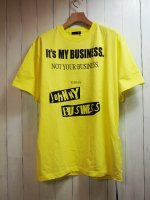 <img class='new_mark_img1' src='//img.shop-pro.jp/img/new/icons16.gif' style='border:none;display:inline;margin:0px;padding:0px;width:auto;' />【JOHNNY BUSINESS】It's My Business T-SHIRT(YELLOW)