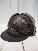 【Burnout】FAKE FUR PILOT CAP(CAMO)