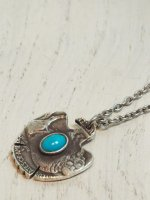 【amp japan】THUNDERBIRD NATIVE AMERICAN COIN TURQUOISE Coin NECKLACE