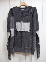 【SEVESKIG】INDIGO REMAKE SWEATER(BLACK)