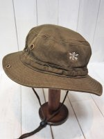 【Burnout】1 POINT CROSSED ARROWS SAFARI HAT(KHAKI)