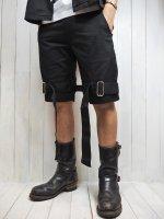 【JOHNNY BUSINESS】Enslave Black Short Pants