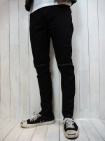 【SEVESKIG】EXTRA STRETCH SKINNY BLACK PANTS