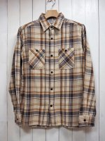 <img class='new_mark_img1' src='//img.shop-pro.jp/img/new/icons14.gif' style='border:none;display:inline;margin:0px;padding:0px;width:auto;' />【FIVE BROTHER】LIGHT NEL WORK SHIRT(BEIGE CHECK)