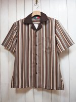 【Special】GUAYABERA SHIRT(BROWN STRIPE)
