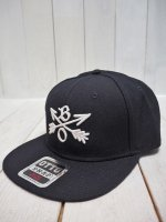 ★再入荷【Burnout】CROSSED ARROWS CAP / 3D Embroidery(BLACK)