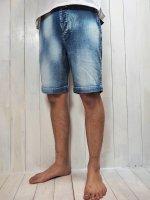 【Burnout】1POINT CROSSED ARROWS SHORT PANTS/STRETCH DENIM