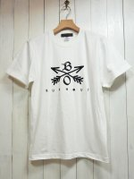 <img class='new_mark_img1' src='//img.shop-pro.jp/img/new/icons14.gif' style='border:none;display:inline;margin:0px;padding:0px;width:auto;' />【Burnout】CROSSED ARROWS CREW NECK T-SHIRT 2019(WHITE)