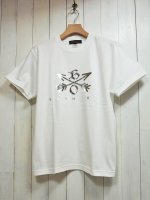【Burnout】CROSSED ARROWS CREW NECK T-SHIRT 2019(WHITE×SILVER)