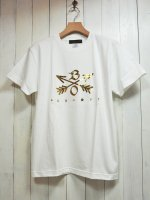 <img class='new_mark_img1' src='//img.shop-pro.jp/img/new/icons14.gif' style='border:none;display:inline;margin:0px;padding:0px;width:auto;' />【Burnout】CROSSED ARROWS CREW NECK T-SHIRT 2019(WHITE×GOLD)