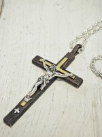 <img class='new_mark_img1' src='//img.shop-pro.jp/img/new/icons14.gif' style='border:none;display:inline;margin:0px;padding:0px;width:auto;' />【STRUM×JOHNNY BUSINESS】COLLABORATION CROSS NECKLACE