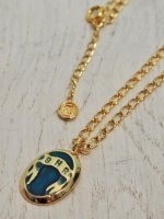 <img class='new_mark_img1' src='//img.shop-pro.jp/img/new/icons14.gif' style='border:none;display:inline;margin:0px;padding:0px;width:auto;' />【SAHRIVAR】ENAMELED NECKLACE BRASS×18K PLATING(BLUE)