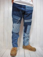 【SEVESKIG】VINTAGE UPCYCLE MOTO PANTS