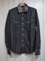 <img class='new_mark_img1' src='//img.shop-pro.jp/img/new/icons14.gif' style='border:none;display:inline;margin:0px;padding:0px;width:auto;' />【AYUITE】SW HAND DENIM SHIRT(INDIGO)